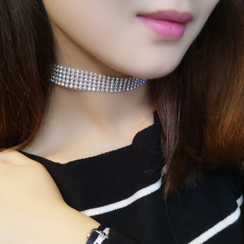 7c0f95deb HomejewelleryCrystal Rhinestone Choker Necklace Women Wedding Accessories.  -$0.49. 🔍. variations