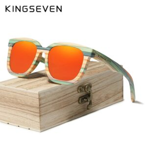 Retro Natural Bamboo Sunglasses Men Women Polarized Mirror