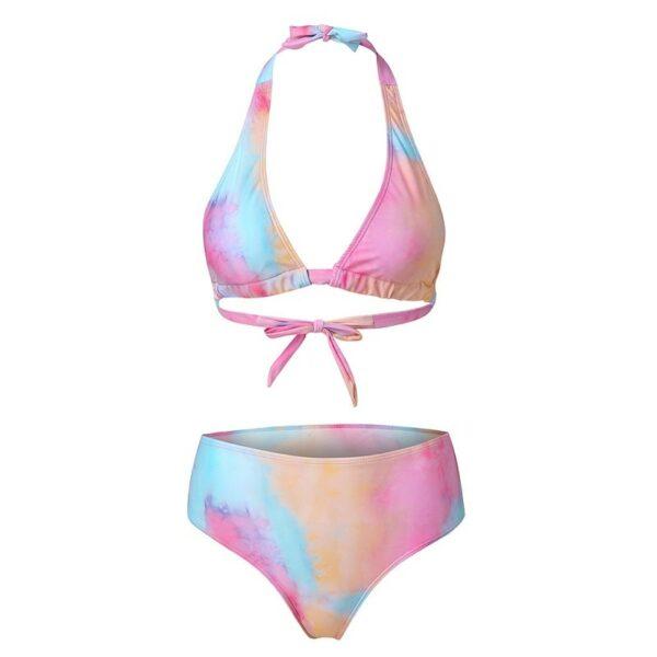 High Waist Bikini Swimsuit Women 2 Pieces Leopard =Bathing Suit