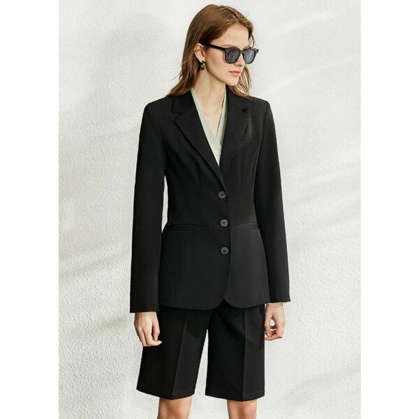 Spring British Style Professional Blazer Women Lapel Slim Coat