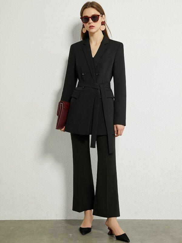Minimalism British Style Causal Blazer Women