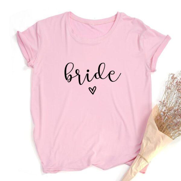 Team Bride Print Women Short Sleeve T Shirts Bachelorette Wedding Party