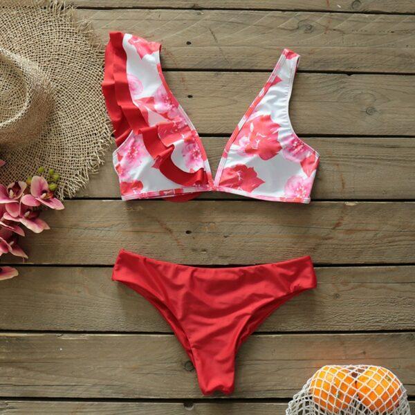 Sexy Ruffle Bikinis Women Swimsuit Brazilian Bikini Set Swimwear